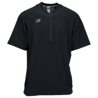 New Balance Short Sleeve 3000 Batting Jacket - Men's - All Black / Black