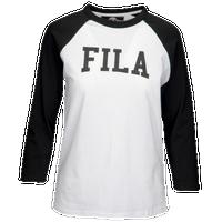 67ec40128f6d Fila Tammy Raglan T-Shirt - Women s - White   Black