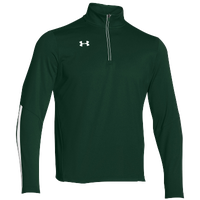 Under Armour Team Qualifier 1/4 Zip - Men's - Dark Green / White