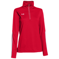Under Armour Team Qualifier 1/4 Zip - Women's - Red / White