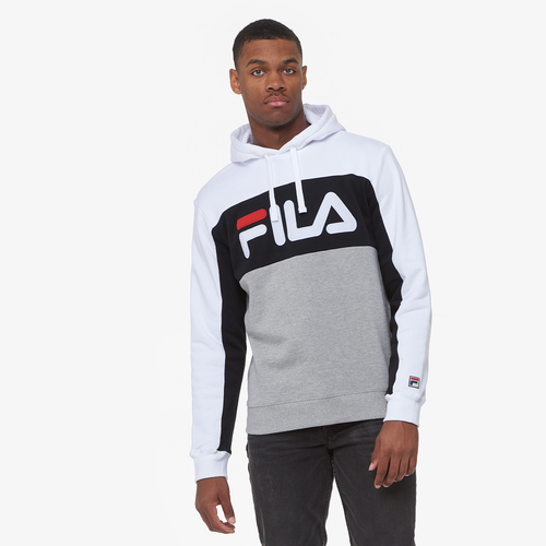 6414d04606 Fila Tony Hoodie - Men's - Casual - Clothing - White/Black/Grey
