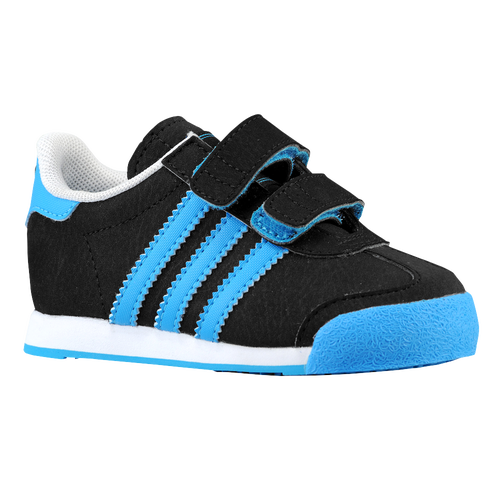 Kids - Adidas Samoa Black / Run White-Blue Shoes