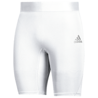 "adidas Team Alphaskin 9"" Short Tight - Men's - White"