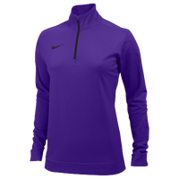 Nike Team Dri-FIT 1/2 Zip - Women's - Purple / Purple