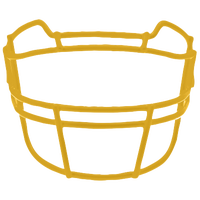 Schutt ROPO-TRAD Vengeance Carbon Steel Facemask - Men's - Gold / Gold