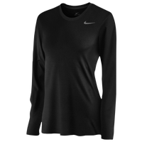 Nike Team Legend Long Sleeve T-Shirt - Women's - Black / Black