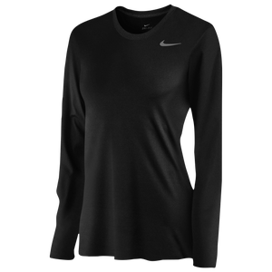 Nike Team Legend Long Sleeve T-Shirt - Women's - Black/Cool Grey