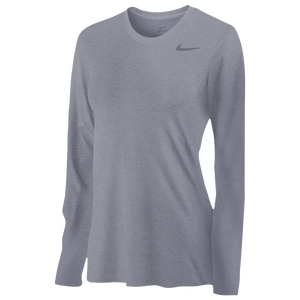 Nike Team Legend Long Sleeve T-Shirt - Women's - Carbon Heather/Black