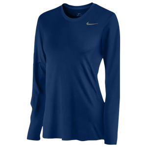 Nike Team Legend Long Sleeve T-Shirt - Women's - College Navy/Cool Grey