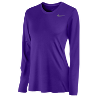 Nike Team Legend Long Sleeve T-Shirt - Women's - Purple / Purple
