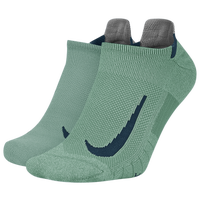 Nike Multiplier 2 Pack No-Show Socks - Green