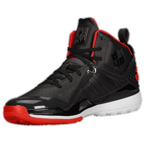 adidas D Howard 5 - Men's - Basketball - Shoes - Black/Light Scarlet/White
