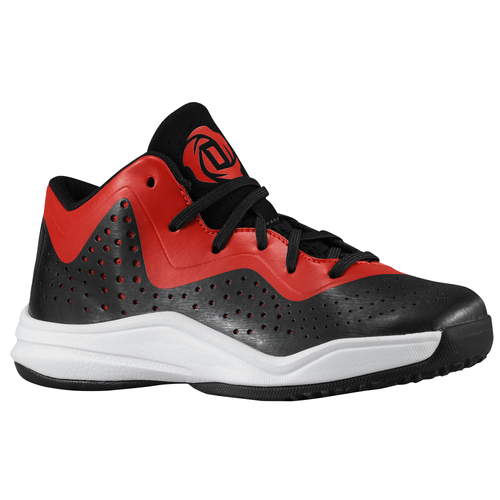 adidas D Rose 773 III - Boys' Preschool - Basketball - Shoes - Rose, Derrick  - Black/Light Scarlet/Running White