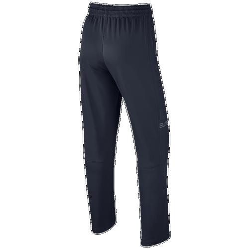 Nike Elite Stripe Open Hem Pants - Men's Basketball - Obsidian/Cool Grey 76109451