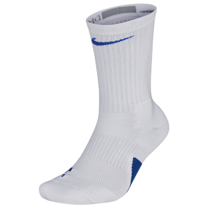 Nike Elite Crew Socks - White/Royal