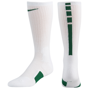 Nike Elite Crew Socks - White/Gorge Green