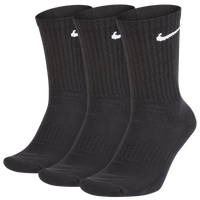 Nike 3 Pack Dri-FIT Cotton Crew Socks - Men's - Black