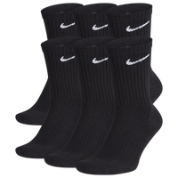 Nike 6 Pack Performance Cotton Crew Socks - Men's - Black