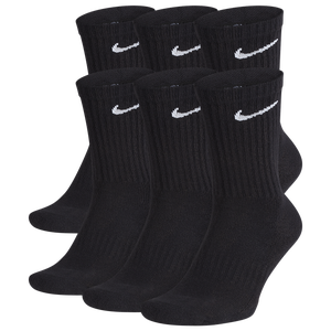 Nike 6 Pack Performance Cotton Crew Socks - Men's - Black/White