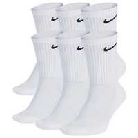 Nike 6 Pack Performance Cotton Crew Socks - Men's - White