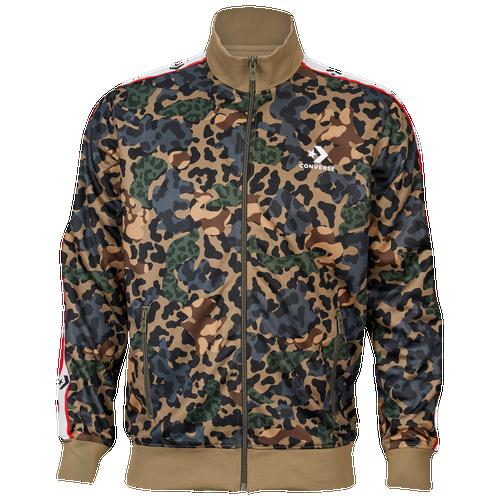 4e1140e0a939 Converse Star Chevron Camo Track Jacket - Men s - Casual - Clothing - Dusky  Green Camo