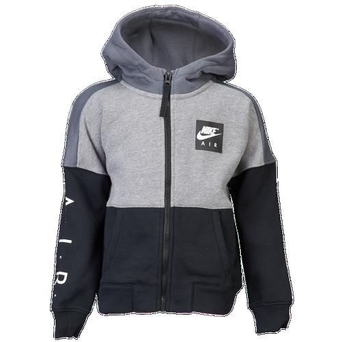 Nike Air Fleece Full-Zip Hoodie - Boys  Toddler - Casual - Clothing -  Carbon Heather Black 246e18d1f4