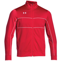 Under Armour Team Rival Knit Warm-Up Jacket - Men's - Red / White