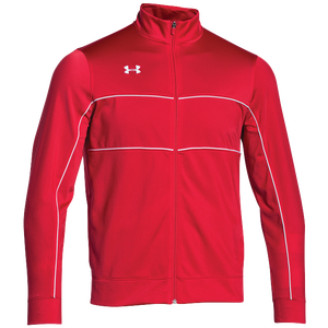 Under Armour Team Rival Knit Warm-Up Jacket - Men's - Red/White