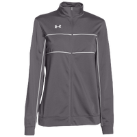 Under Armour Team Rival Knit Warm-Up Jacket - Women's - Grey / White