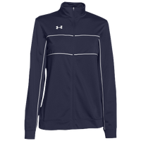 Under Armour Team Rival Knit Warm-Up Jacket - Women's - Navy / White