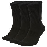 Nike 3 Pack Dri-FIT Max Crew GFX Socks - Men's - Black