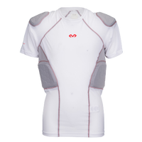 McDavid Rival Pro 5 Pad Short Sleeve Shirt - Grade School - White / Grey