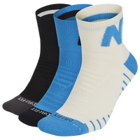 Nike 3 Pack Dri-Fit Max GFX Quarter Socks - Men's - Blue / White