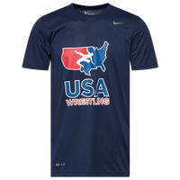 Nike USA Wrestling Team Legend Training T-Shirt - Men's - Navy