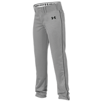 Under Armour Team Next Open Bottom Baseball Pants - Boys' Grade School - Grey