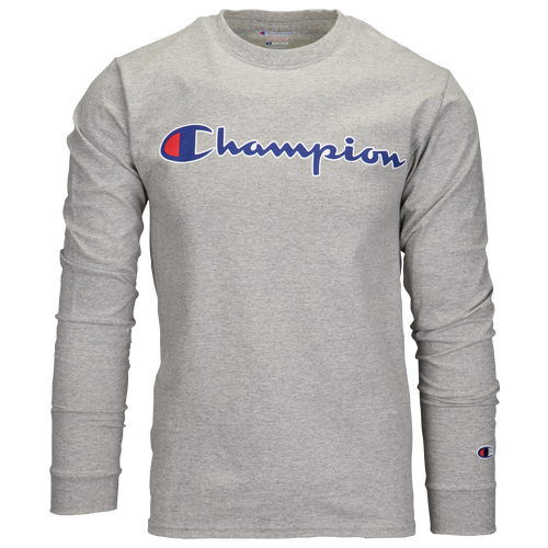 aa535ef60a49b Champion Script Ink Long Sleeve T-Shirt - Men s - Casual - Clothing - Grey