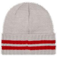 106cfa1aa31 New Era NBA Striped Cuff Knit - Men s - Chicago Bulls - Grey   Red