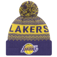 on sale 74b2c 50299 ... best price new era nba wintry knit mens los angeles lakers purple gold  1bd9b 51083