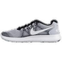 white and grey nike free