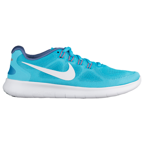 Nike Free RN 2017 - Women's - Running - Shoes - Chlorine Blue/Off White/Polarized  Blue/Blue Moon
