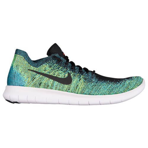 Nike Free RN Flyknit 2017 - Men's - Running - Shoes - Black/Volt/Chlorine  Blue