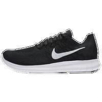 Nike Free Run Flyknit Femmes Gris / Noir Chaussures De Course