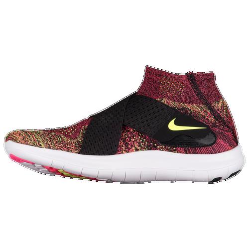 Nike Free RN Motion Flyknit 2017 - Women's Running Shoes - Black/Chlorine Blue/Racer Pink/Volt/Glacier Blue 80846004