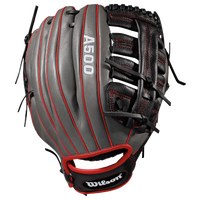 Wilson A500 125 Fielder's Glove - Grade School - Grey / Black
