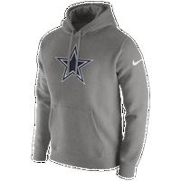 ade0a890a3e4 Nike NFL Pullover Fleece Club Hoodie - Men s - Dallas Cowboys - Grey   Navy
