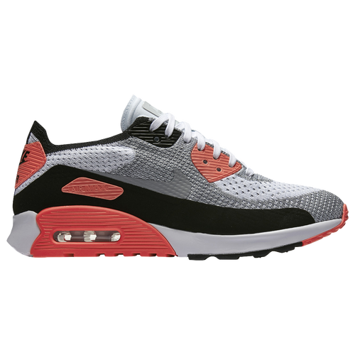 Nike Air Max 90 Ultra 2.0 Flyknit - Women's Casual - White/Wolf Grey/Bright Crimson/Black 81109100