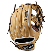 Wilson A450 DP15 Baseball Glove - Boys' Grade School -  Dustin Pedroia - Tan / Brown