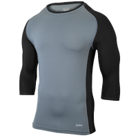 Eastbay Baseball Compression Top - Men's - Grey / Black