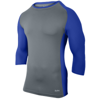 Eastbay Baseball Compression Top - Men's - Grey / Blue
