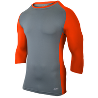 Eastbay Baseball Compression Top - Men's - Grey / Orange
